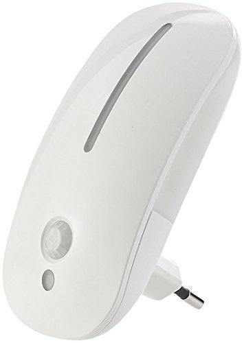 Lunartec Steckdosenlicht: LED-Steckdosen-Nachtlicht mit Bewegungsmelder & Dämmerungs-Sensor (LED Steckdosenlicht)