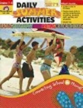 Evan-Moor Daily Summer Activities: Moving from 7th to 8th Grade Activity Book; Outside the Classroom Learning Resource Workbook, Fun Lessons