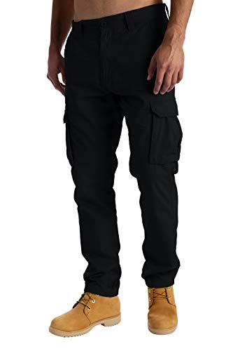 West Ace Mens Cargo Combat Work Trousers Casual Pants with Knee Pad Pockets...