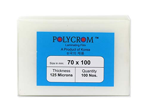 Polycrom 125 Microns Korean (ID Card Size 70mm X 100mm) Lamination Pouch Clear Glossy Thermal Transparent Waterproof 100 Sheets (Home&Office):Driving License