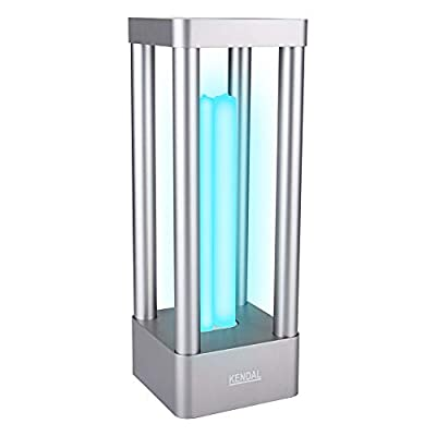 UV Light Sanitizer Portable UVC Germicidal Lamp with Timer and Stand, 18 W Indoor Air Ultraviolet Sterilization Tube Disinfection Light with Auto Sensing Alarm