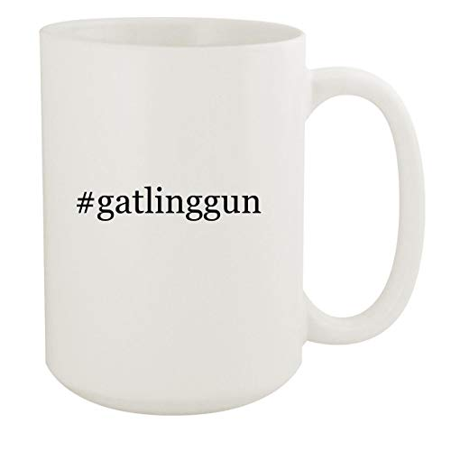 #gatlinggun - 15oz Hashtag White Ceramic Coffee Mug