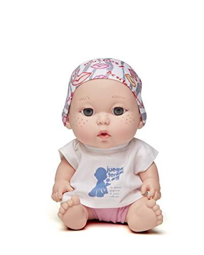 Juegaterapia Muñeco Pañuelo Diseñado por Shakira con Estampado de Besos | Juguete Olor a Vainilla | Baby Pelones Solidarios | 20 x 10 x 20 cm, color, 0150