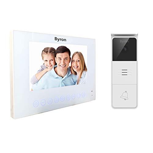 Byron DIC-24212 Videoportero con Cables – 2 Cables con comunicación bidireccional – Botones táctiles