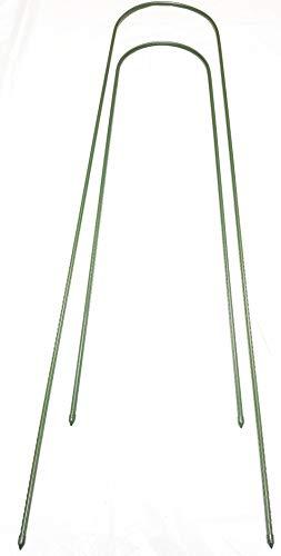 easynets Lot de 6 tiges de Jardin en Forme de U 150 à 200 cm P+P Gratuit 150 cm Vert