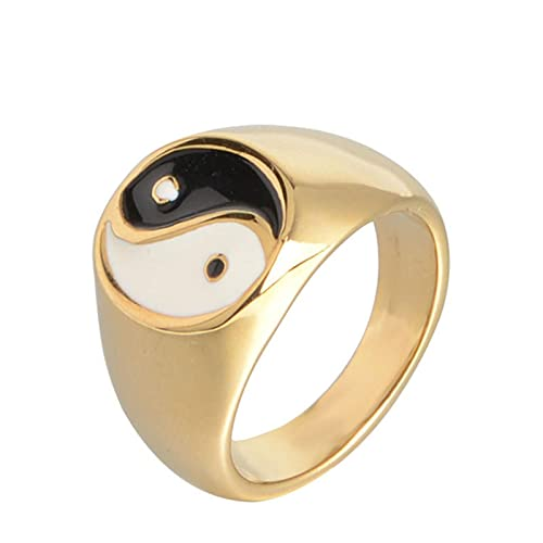Jewelry Taoist Yin Yang Tai Chi Men's Ring Chinese Style Rings