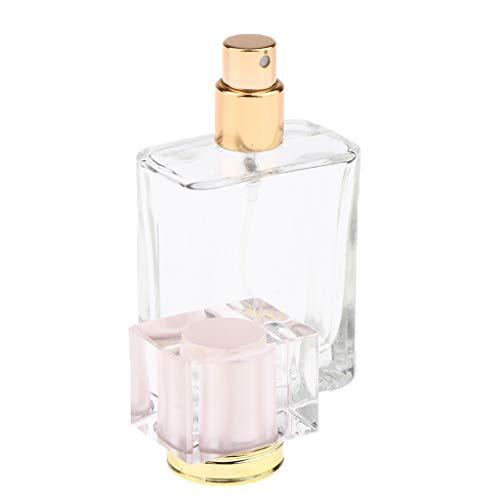 oshhni Bouteille En Verre Vide Bouteilles de Parfum Bouteilles de Parfum Bouteille En Verre Vaporisateur Pulvérisateur - Bonnet Rose