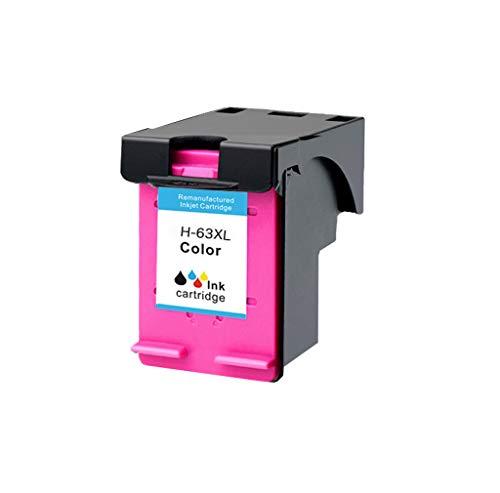 Compatible con los Cartuchos de Tinta para HP 63XL Officejet 2130 3630 3830 4520 4650 Impresora de inyección de Tinta en Color,Color