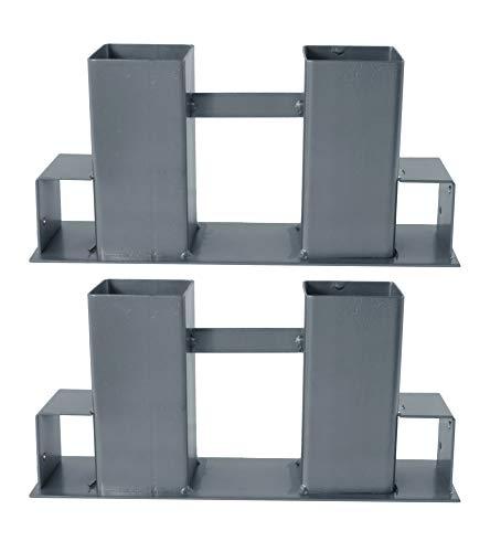 BigDean Holz-Stapelhilfe 2er Set - aus Metall pulverbeschichtet - Perfektes Zubehör zur Außen-Lagerung & Aufbewahrung von Brennholz & Kaminholz
