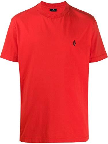 Luxury Fashion   Marcelo Burlon Heren CMAA018R20JER0112510 Rood Katoen T-shirts   Lente-zomer 20