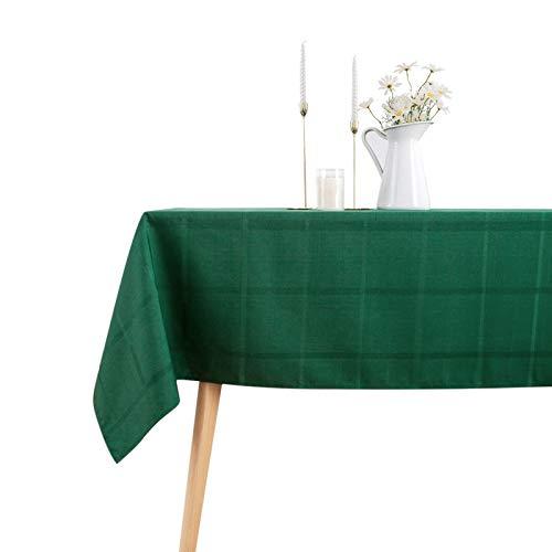 VEEYOO Mantel antiderrames, mantel de rayas de poliéster lavable, resistente a las manchas, antiarrugas, para cena, fiesta, restaurante