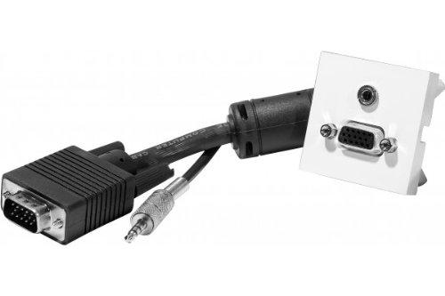 Prise Murale VGA + Audio (Jack 3.5) avec câble de 5m - 45x45