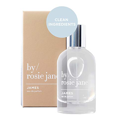 By Rosie Jane Eau De Parfum Spray (James) - Clean Fragrance for Women - Essential Oil Mist with Notes of Fig, Amber, Gardenia - Paraben Free, Vegan, Cruelty Free, Phthalate Free (50ml)