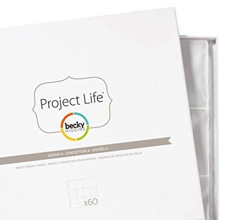 Becky Higgins 380004 Project Life Photo Pocket Page Protector-12 x Design A (12 Piece), Clear Photo #2