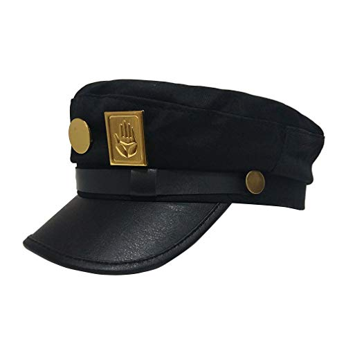 Anime hat Jotaro Kujou hat Jojos hat Army Cap Flat Top Baseball caps Cosplay Black