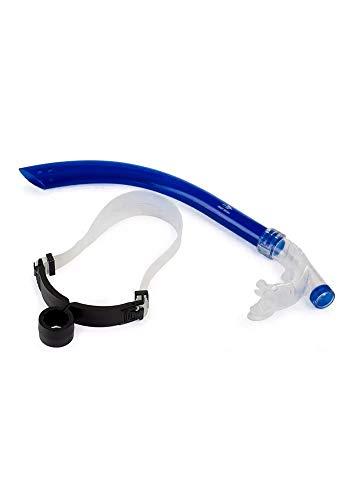 Snorkel Frontal para Natação, azul, Único