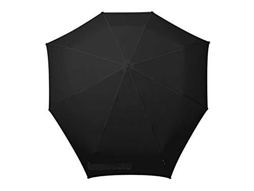 Senz° Regenschirme Manuell Nie Aus Der Mode Faltbare Schirme - Pures Schwarz