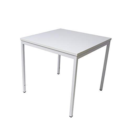 ADB Bürotisch Computertisch Schreibtisch Büro PC Arbeitstisch Stahlrohr-Tisch grau 800x800x750 mm