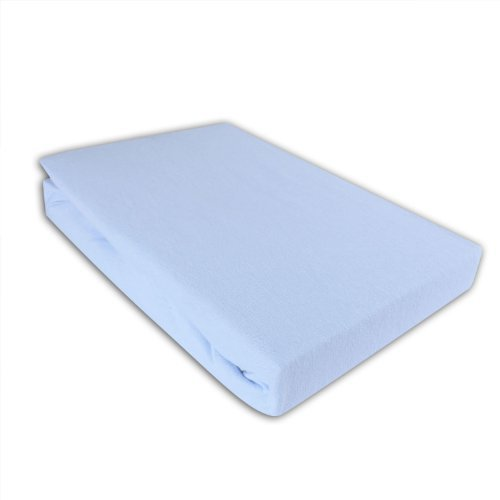 I.C.S. Kinder Jersey Spannbettlaken 70x140cm Bettlaken für Kinderbett Eisblau