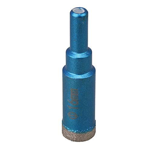 CNBTR Emery - Broca de diamante seco soldada (16 mm), color azul