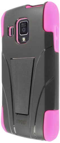 MPERO Collection Tough Kickstand zwart en roze doos/Shell/Cover voor Pantech Perception