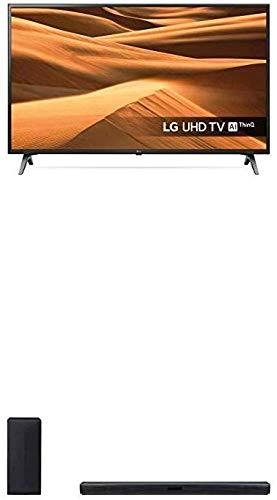 LG 65UM7100PLA 164 cm (65 Zoll) Fernseher (LCD, Single Triple Tuner, 4K Active HDR, Smart TV) + LG SK4D, 2.1 Soundbar (300W mit drahtlosem Subwoofer; Bluetooth, optischer Eingang) schwarz
