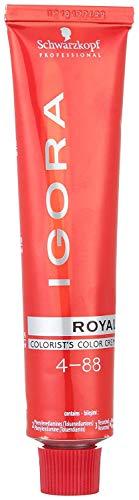 Schwarzkopf Igora Royal Couleur des cheveux Crème 4-88 Brun moyen Rouge extra 60ML (emballage peut varier)