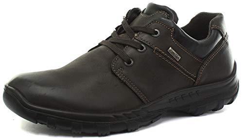 iMac - Zapatos Casuales con 3 Ojales para Hombre (42 EU/Marrón)