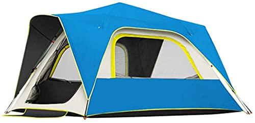 Chuen pulmonar Al Aire Libre Impermeable Pop Tent Tent Tents Automatic Pop Up Camping Tienda 3 4 5 Persona con Doble Capa Impermeable para la Familia Senderismo Montañismo Carpa al Aire Libre