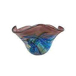 Dale Tiffany Lamps Dale Tiffany Allesia Hand Blown Art Glass Bowl, Multi-Colored
