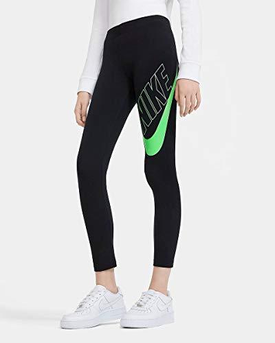 Nike CU8943-013 G NSW Favorites GX Legging Leggings Girls Black/(Vapor Green) XL