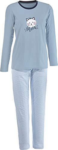 Erwin Müller Damen-Schlafanzug Single-Jersey hellblau Größe 38