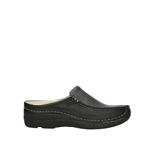 Wolky Comfort Seamy Slide - 70000 schwarz gedruckt Leder - 39