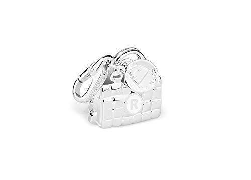 Ciondolo charms in argento con smalto bianco ROSATO - My Bags - RBA026