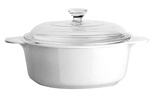 World Kitchen Corningware - Cacerola Redonda, de Vidrio Pyro