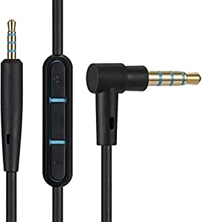 Sqrmekoko Inline Mic Remote Audio Cable Cord Line for Bose QuietComfort 25 QC25 Headphones (Black)