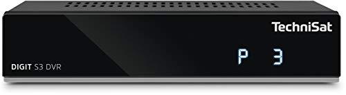 TechniSat DIGIT S3 DVR - hochwertiger digital HD Sat Receiver (HDTV, DVB-S/S2, PVR Aufnahmefunktion, Timeshift, HDMI, USB, vorinstallierte Programmlisten, Unicable tauglich) schwarz