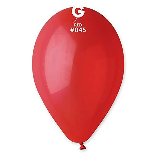 Gemar-100 Palloncini 12 Pollici 30 cm Diametro, Colore Rosso, G110/45