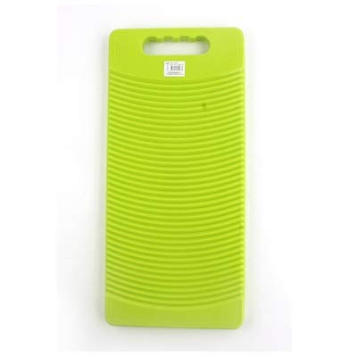 Tablero de lavado rectangular de plástico para lavar la ropa 50 cm de largo (verde)