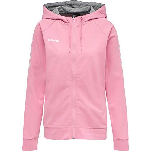 Hummel Damen Hmlgo Cotton Zip Hoodie Woman Sweatshirt, Cotton Candy, XXL EU