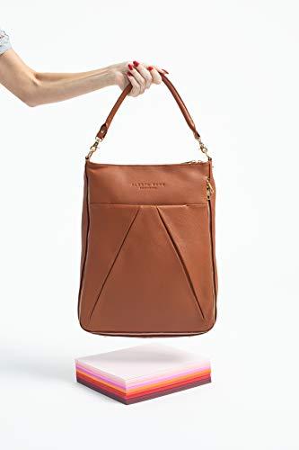 Maribelle Travel Laptop Bag (Brandy with Gold Hardware)