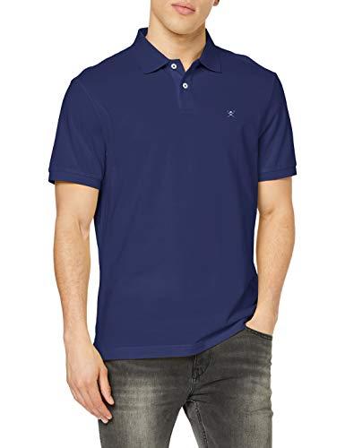 Hackett London Slim Fit Logo Polo, Azul (5dinavy/Blue 5di), Medium para Hombre