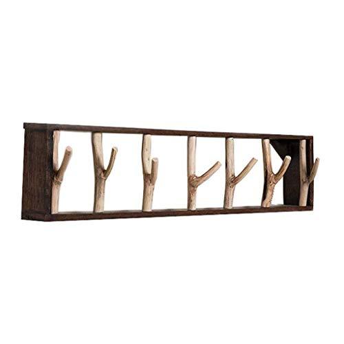 Guuisad Talladora de recubrimiento de dormitorio, perchero montado en la pared Toalla de baño Hoja de toalla de gancho creativo ramita de estilo Capa de gancho dormitorio sala de estar soporte de pare