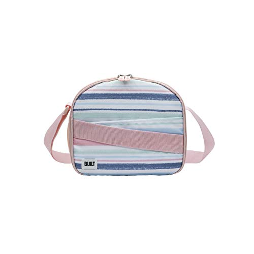 BUILT NY Cross Insulated Lunch Bag, 9-Inch, Chalk Stripe