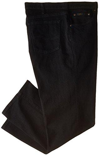 Lee Men's Big-Tall Premium Select Custom Fit Relaxed Straight Leg Jean, Black, 52W x 30L