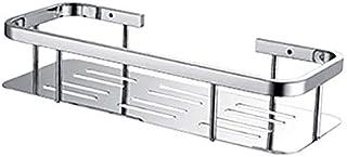 304 Étagères de salle de bain en acier inoxydable Simple Double Douche Carrée Brillant Panier à Tablette Rangement Rack Ca...