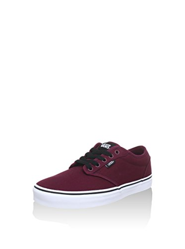 Vans Men Low-Top Sneakers, Red (Oxblood/White), US:5
