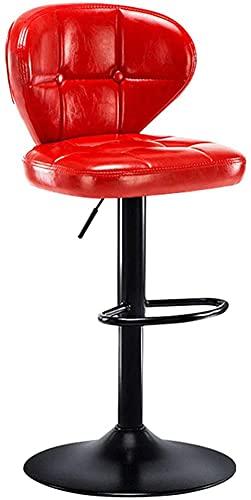 Chilequano Taburetes de muebles de sala de estar, Taburete de barra giratoria Taburete moderno de contador de contador de mesa de vestir Silla de comedor, con espalda y asiento tapizado de cuero, elev