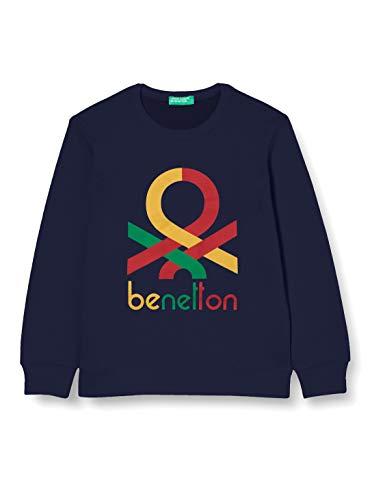United Colors of Benetton 3J68C14Q5 Sudadera con Capucha, Peacoat 252, S para Niños