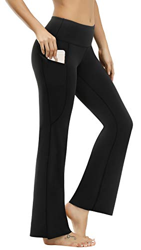 HOFI Bootcut Yoga Pants for Women, Tummy Control Bootleg Leggings with Pockets